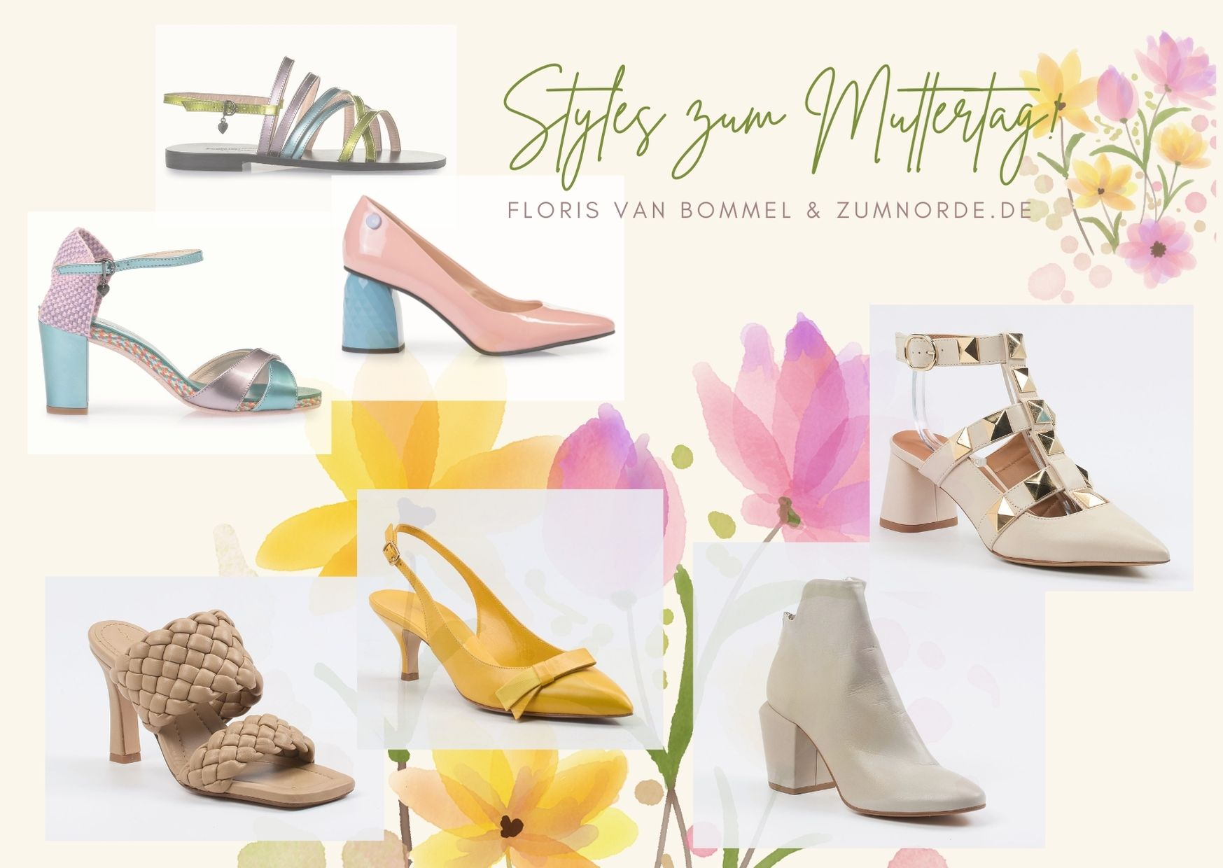 Introimage : Mother's Day Greetings with seasonal Shoe-Styles